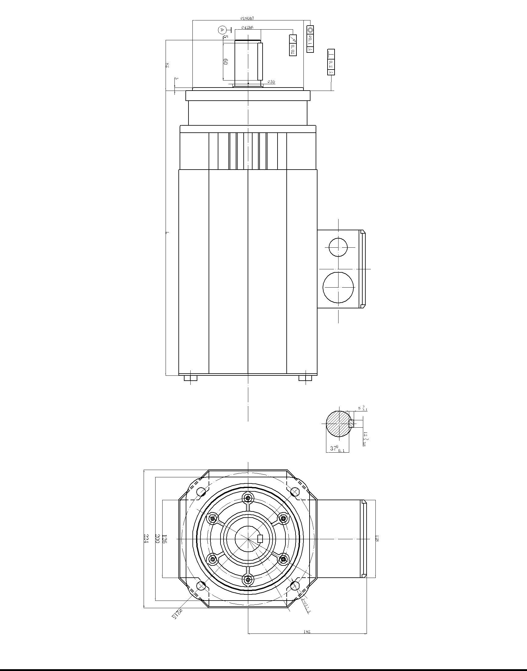 Servo motors frame size 200mm china servo motor servo for Servo motor frame sizes