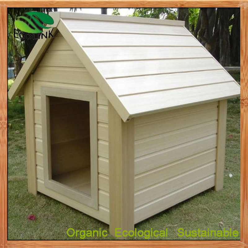 China custom small large wood plastic composite dog for Large custom dog houses