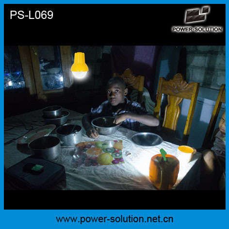 Power Solution Mini Qualified 4500mAh/6V Solar Rechargeable Camping Lantern with Mobile Phone Charger