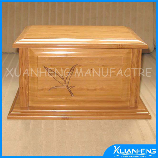 Bamboo Purple Heart Laser Carving Urn