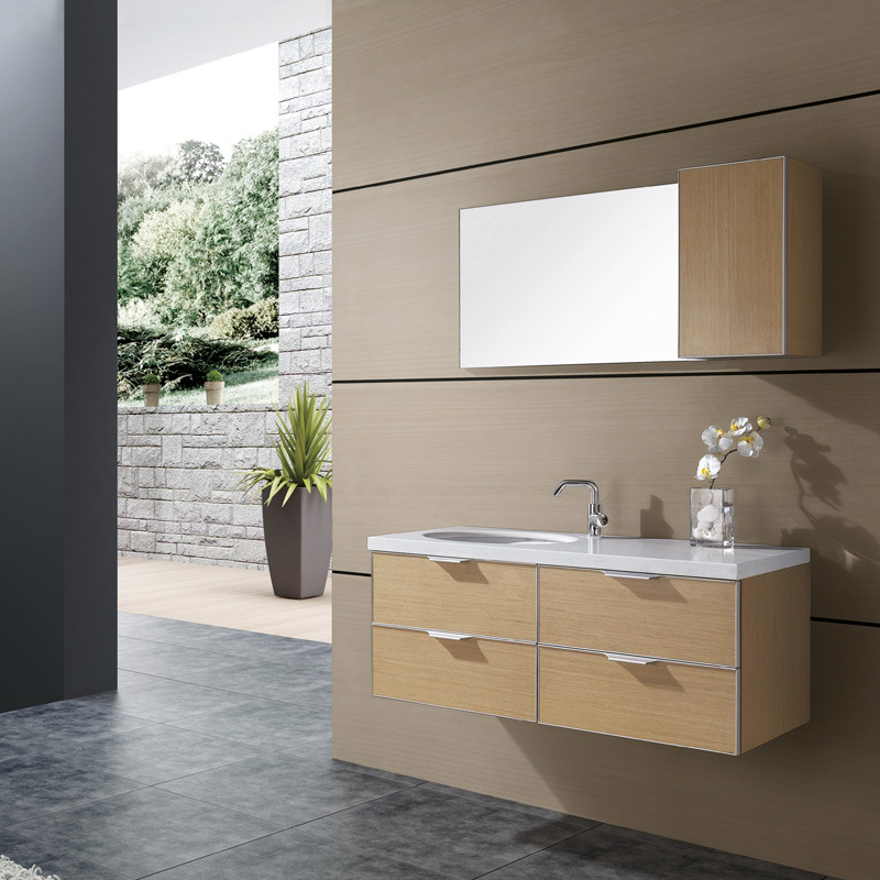 Double Sink Bath Cabinet AC9057 China Bathroom Cabinet Plywood Bathroom