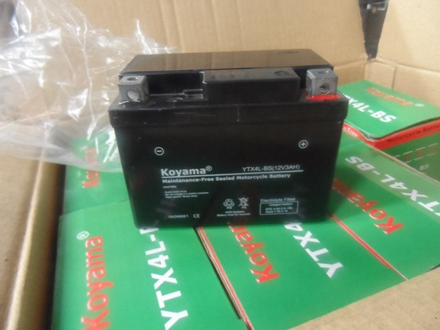 Ytx4l-BS 12V3ah Sealed Mf Motorcycle AGM Battery