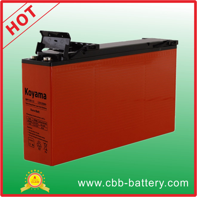 Long Life 150ah 12V Solar System Front Terminal AGM Battery