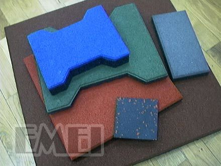 Dogbone Rubber Tile for Car, Horse Road