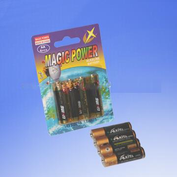 4-Piece Batteries in Blister Card (LR03/LR6)