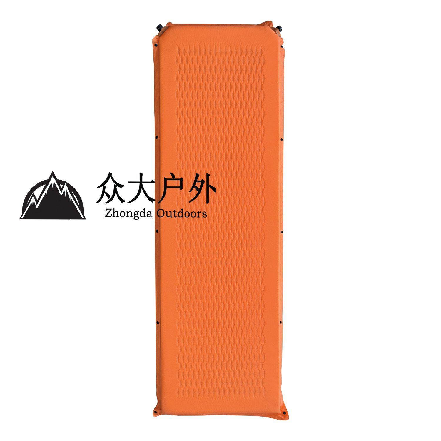 Single Thick Self-Inflating Mattress with Diamond Holes