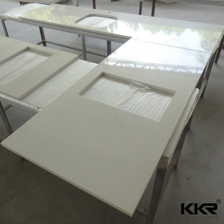Prefab Crystal White Quartz Stone Kitchen Countertop (C1705263)