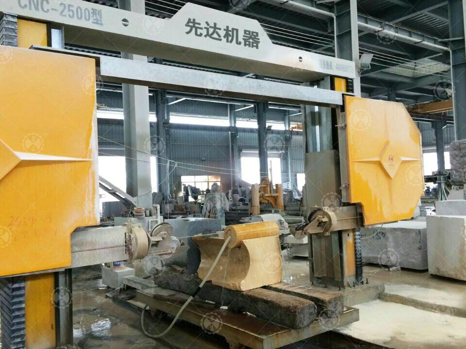 CNC - 2500 Stone Block Wire Saw Cutting Machine