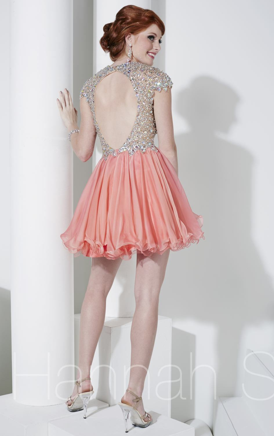 Beading Cocktail Party Homecoming Dresses V-Neck Short Prom Dresses P15116