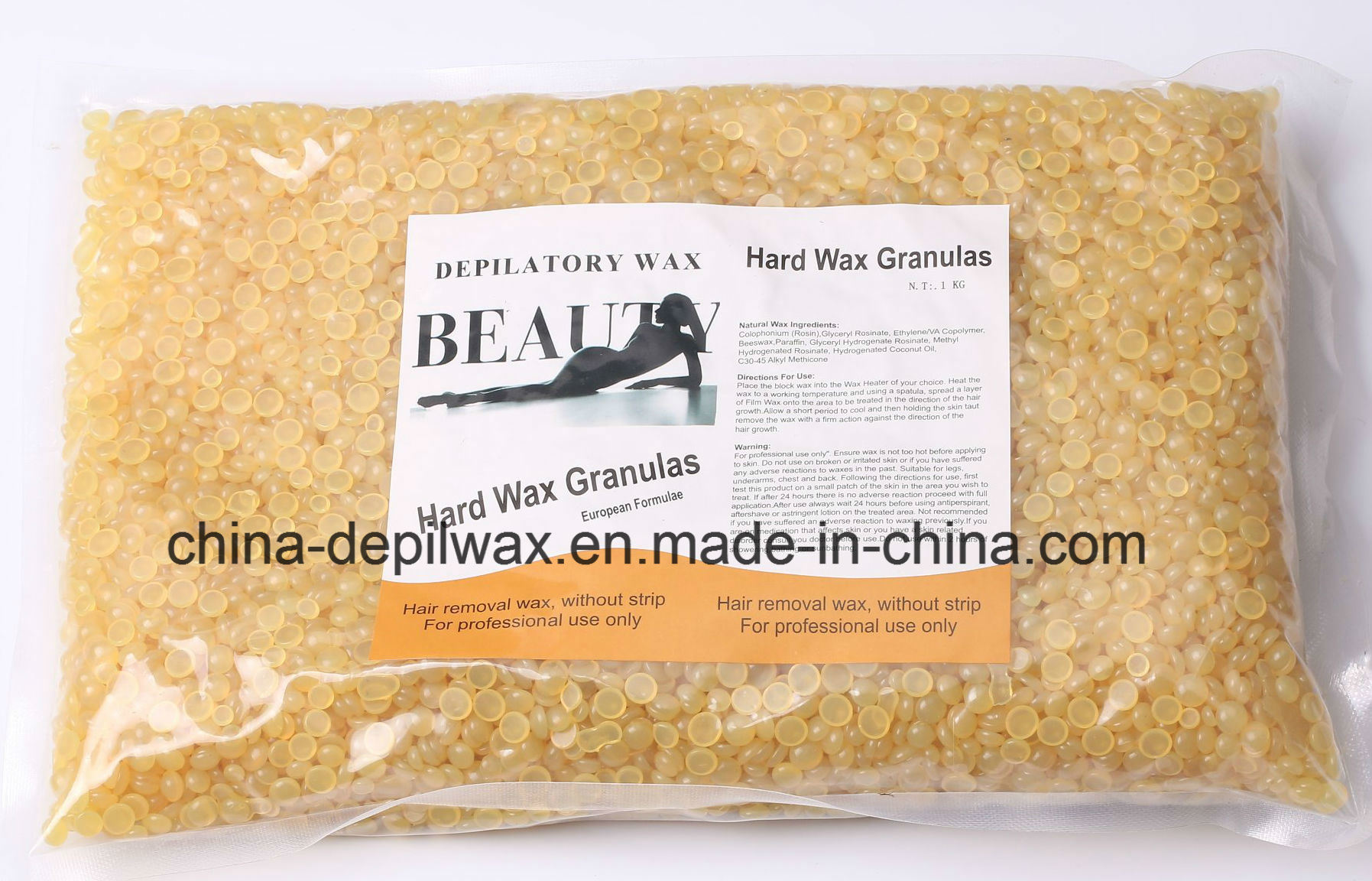 Chocolate Hard Wax Pellets Depilatory Wax with Wonderful Coca Butter Aroma