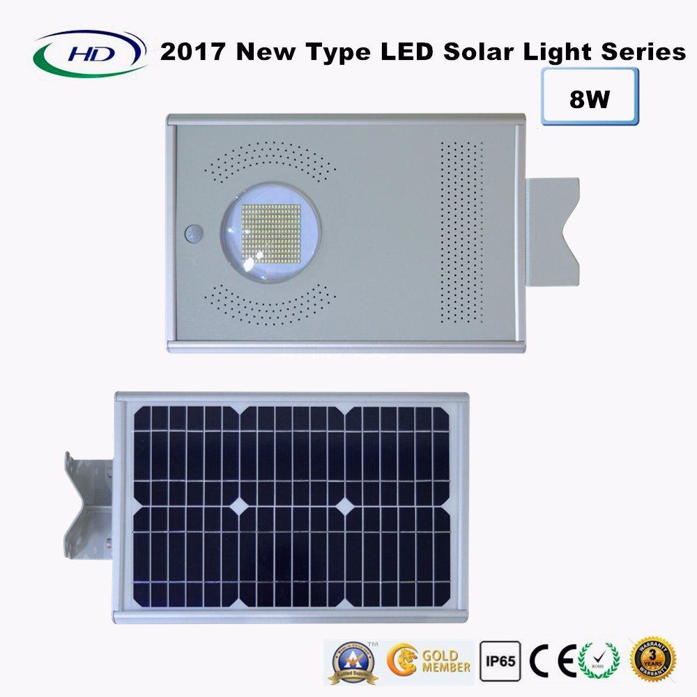 2017 New Type All-in-One Solar LED Garden Light 8W