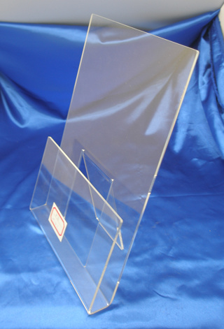 Customized Clear Acrylic Sign Holder Menu Holder
