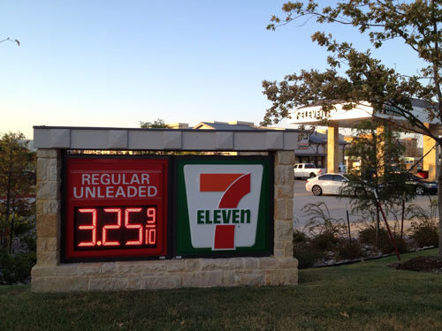 "Outdoor Remote Controlled 12"" Gas Price LED Sign (TT30)"