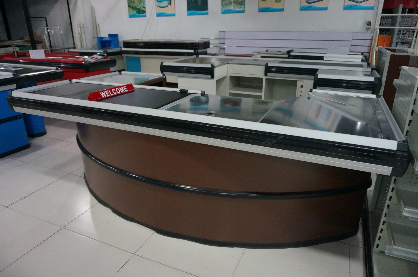 Hot Design Cash Checkout Counter for Supermarket Shop