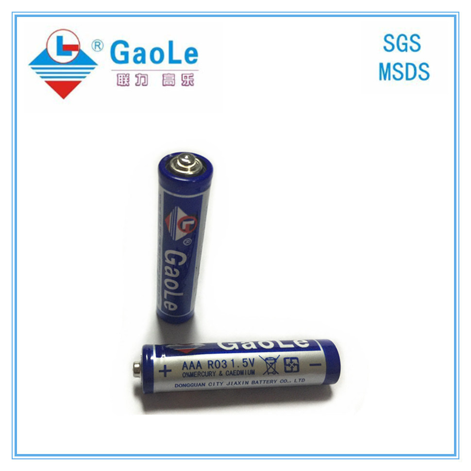 1.5V R03p AAA Size Carbon Zinc Battery