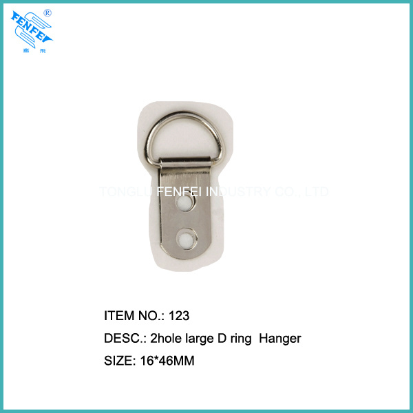 2 Holes Large D-Ring Picture Hangers (123)