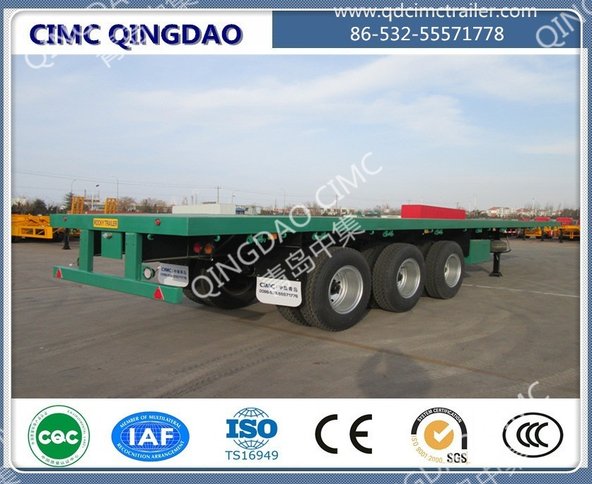 40FT 2/3/4 Axle Flatbed Platmorm Flatbed Semi Truck Trailer