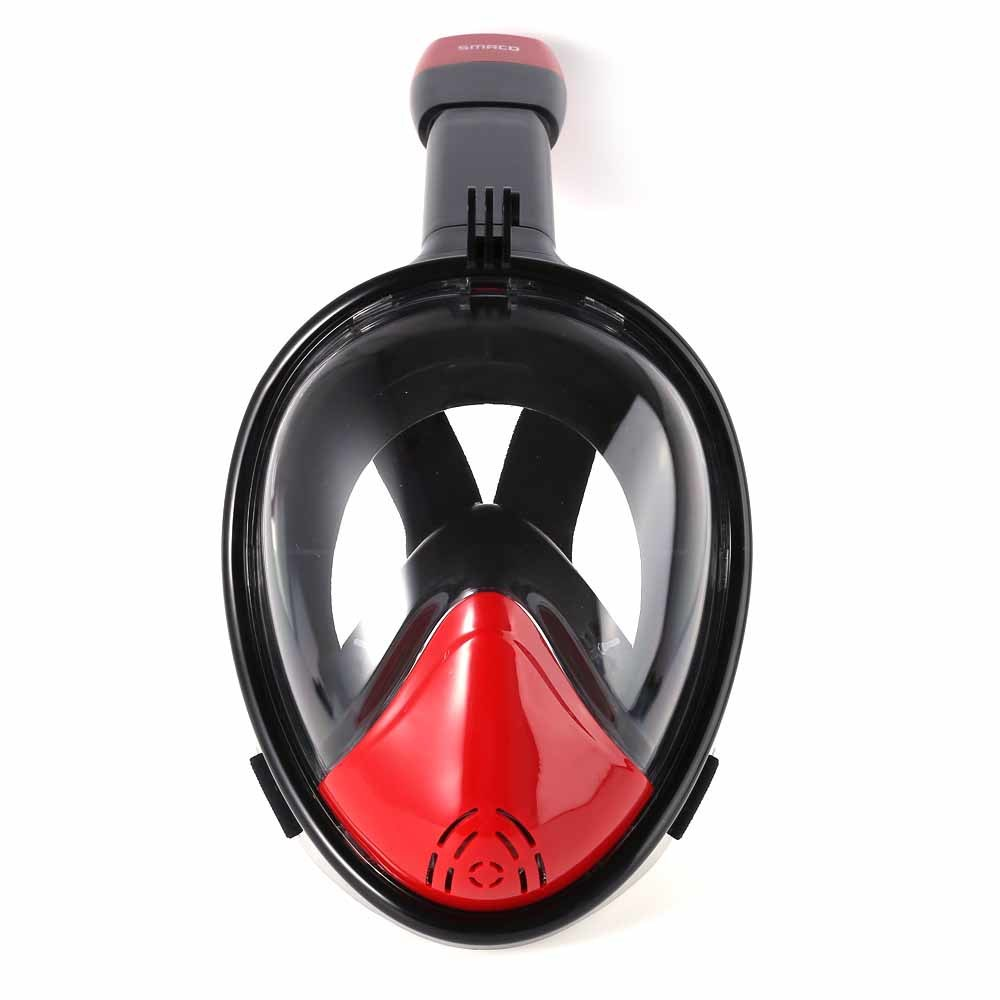 Red+Black Full Face Snorkel Mask Dry Diving M2098g Ce RoHS FDA