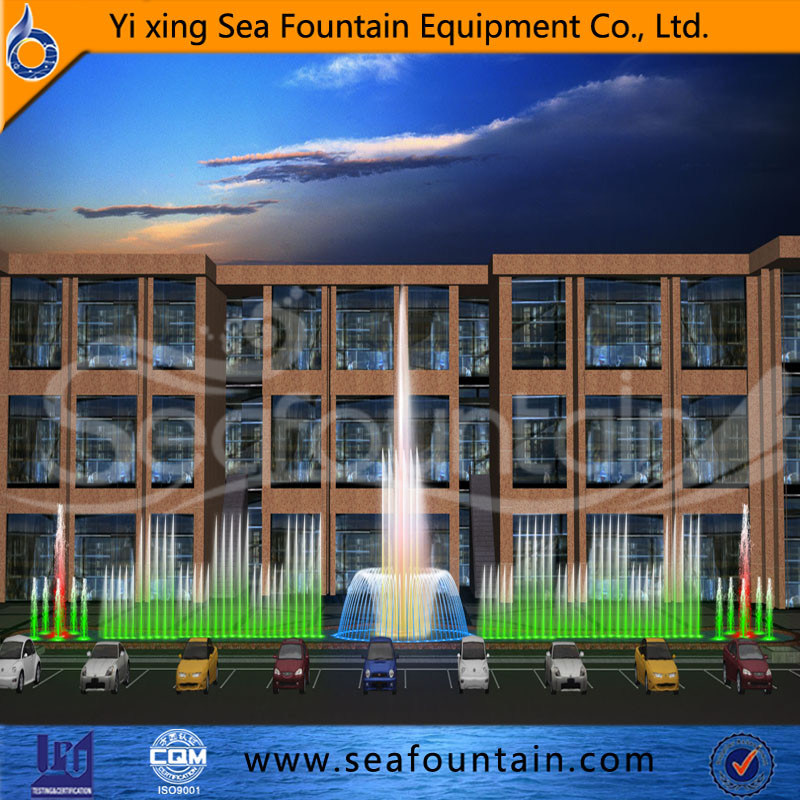 Urban Construction European Style Music Interactive Fountain