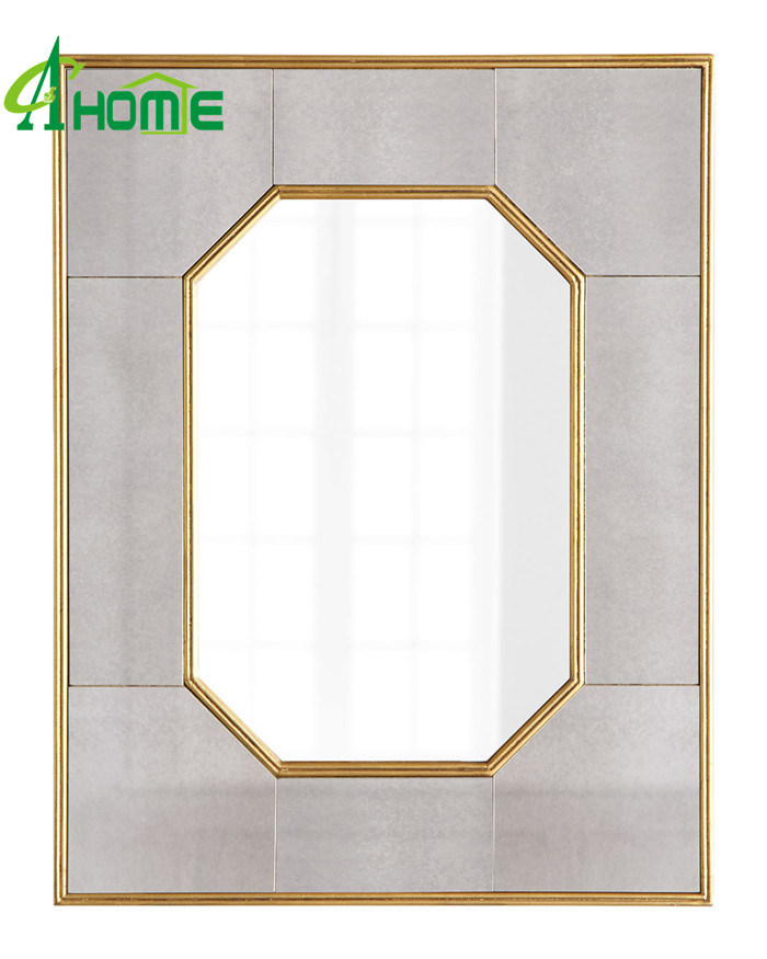 Hot Sales Antique Golden Finished Framed Wall Mirror Set 4 for Home Decor