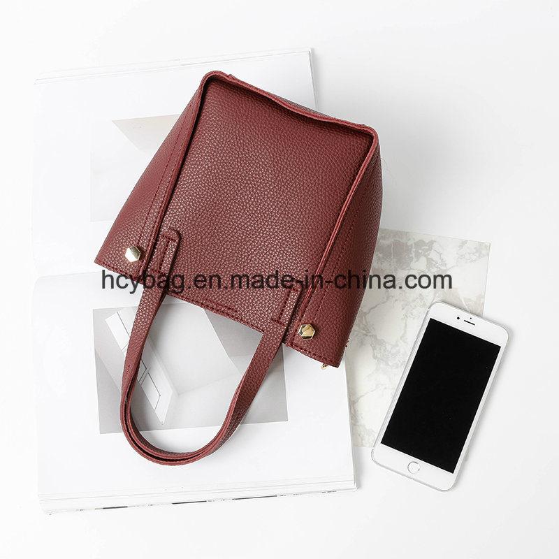 2017 Popular Crossbody Handbags Leather Bag Set Fashion Lady Hand Bag Hcy-A814