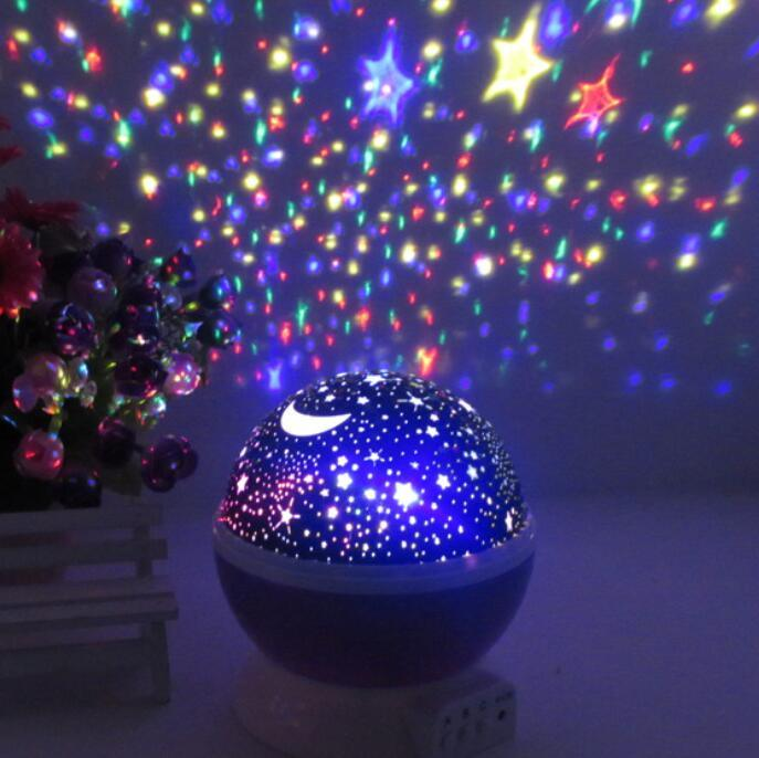 360 Degree Rotate Color Changing Star Sky Projector Night Light