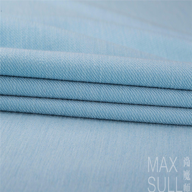 Good Elasticity Wool and Lycra Fabrics in Light Blue