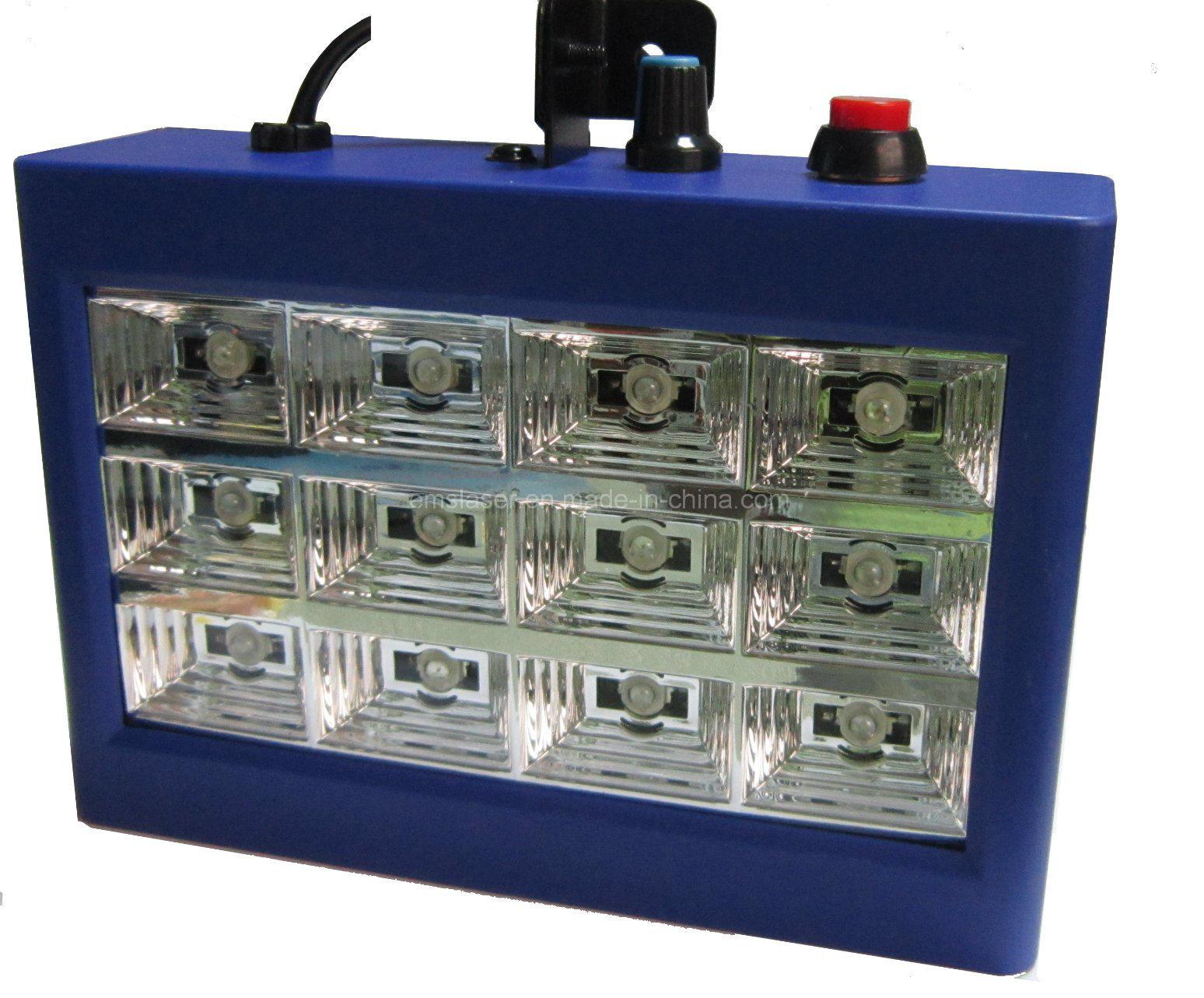 LED Strobe Light 12PCS*1W DJ LED Dancing Floor DJ Lighting Christmas Strobe Light