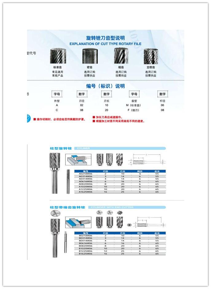 Cutoutil E1220m06 12*12 Carbide Burrs