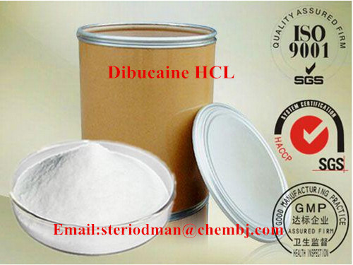 High Quality Local Anesthetic Dibucaine Hydrochloride Dibucaine HCl Pain Killer