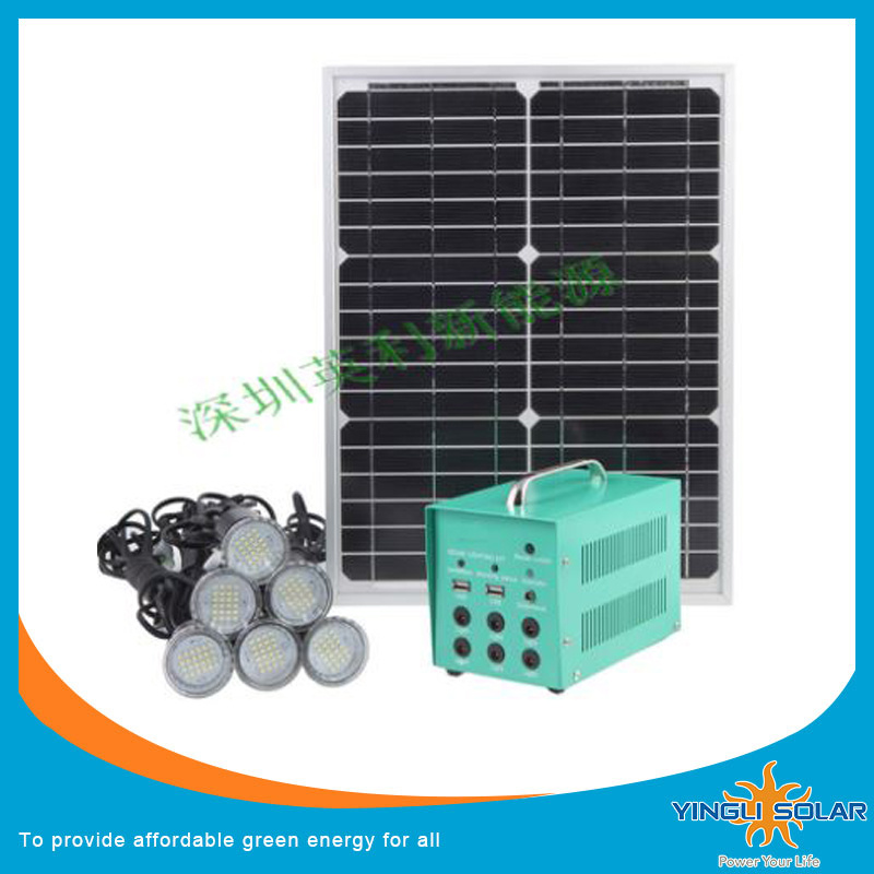 New Model 30W 40W Portable Solar Power Kit with 8PCS LED Light