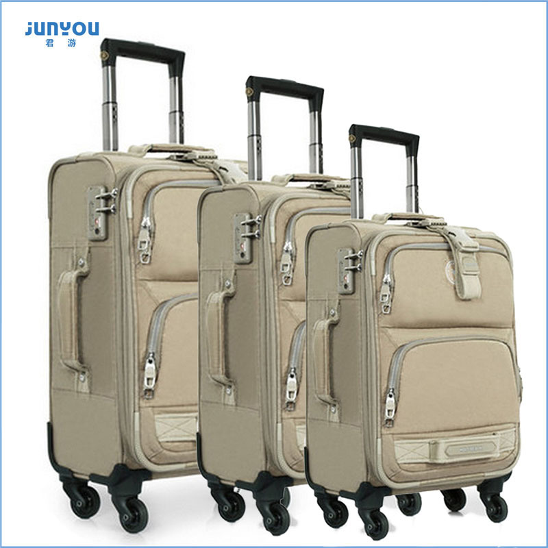 Good Quality Waterproof 24′′ Soft Nylon Trolley Luggage