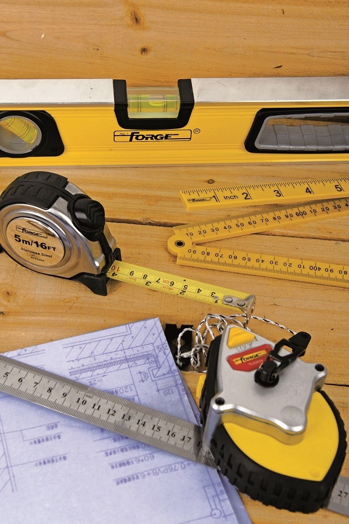 "Durable Measuring Tools 1m (39"") ABS Plastic Folding Ruler"