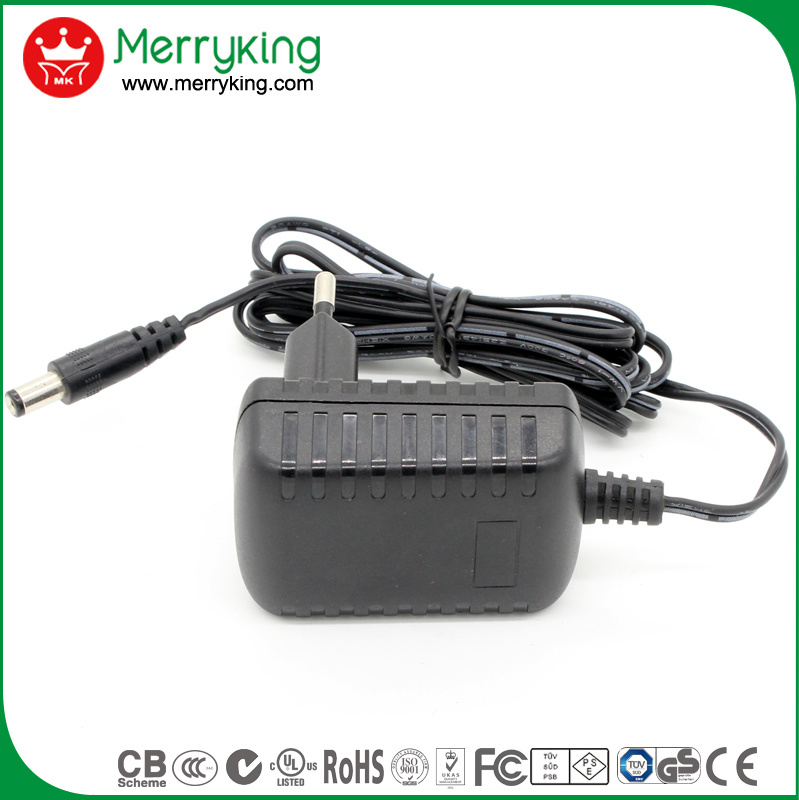 12W AC DC Power Adapter Level 6 GS Certified Transformer