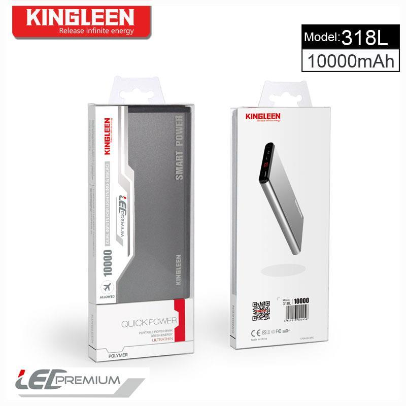 Kingleen USB Power Bank 10000mAh Standard Mirco Cable Kingleen Model 318L Made in China