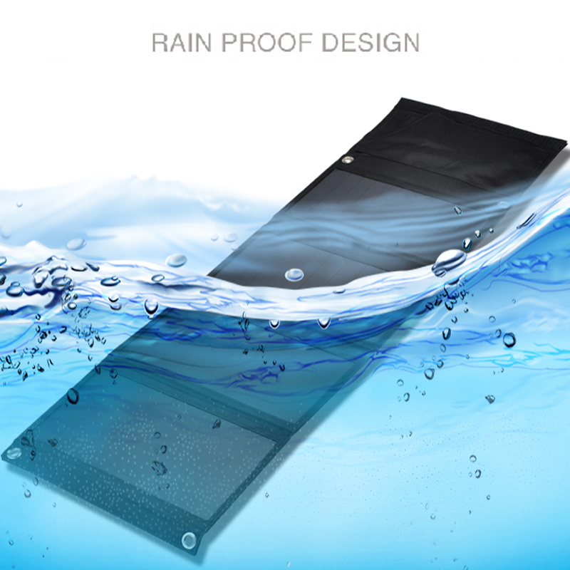 14W Portable Waterproof Dual USB Sunpower Solar Charger