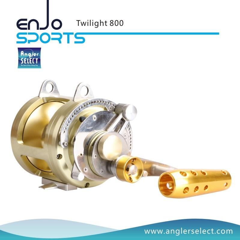 Aluminium 8+1 Bearing Sound Alarm Trolling Fishing Reel for Marine and Boat