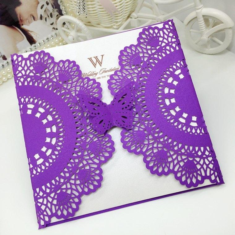 Four Colors Custom Wedding Invitation Cards Greeting Cards Printing