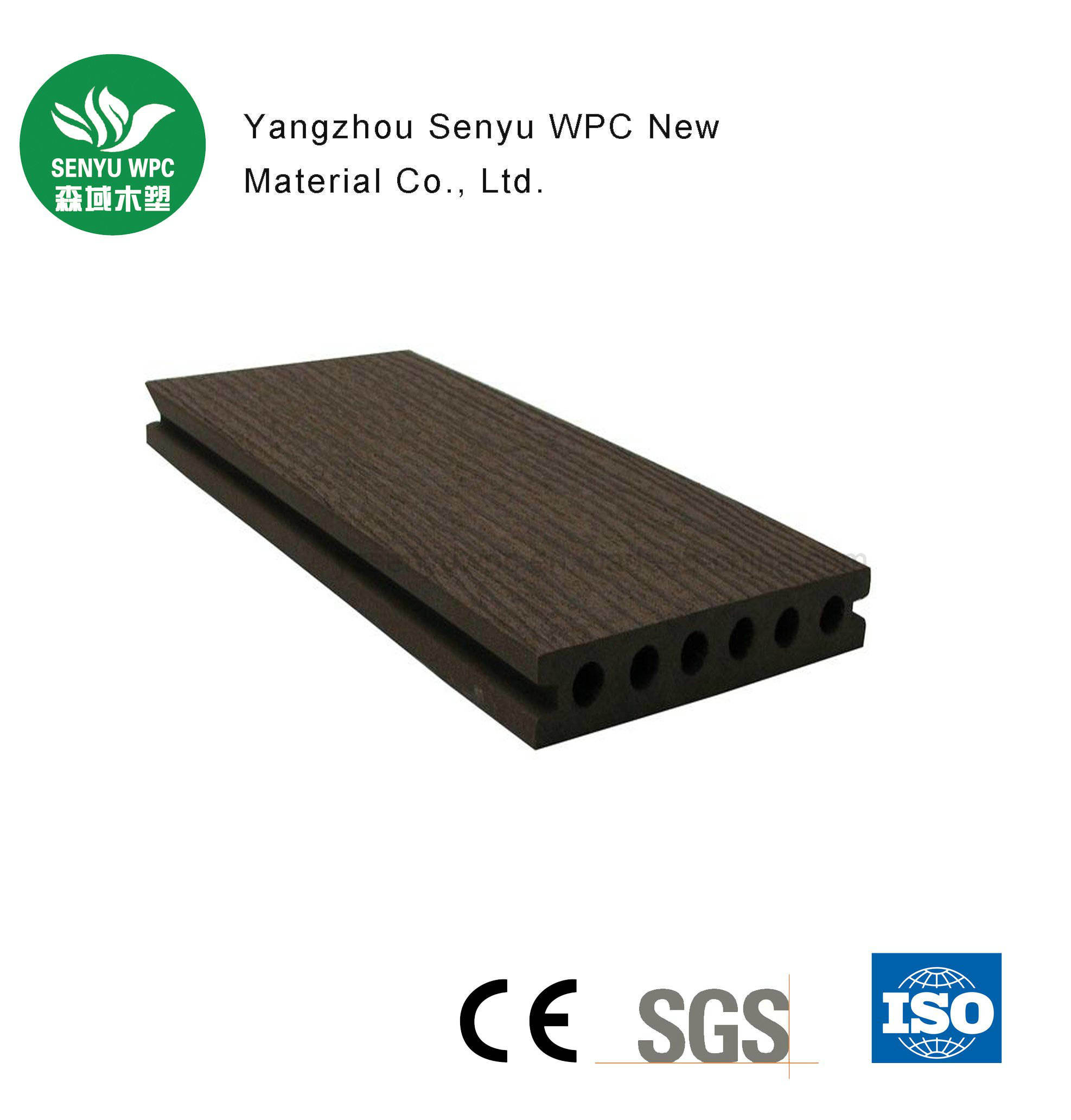 Outdoor Wood Plastic Composite WPC Decking with CE