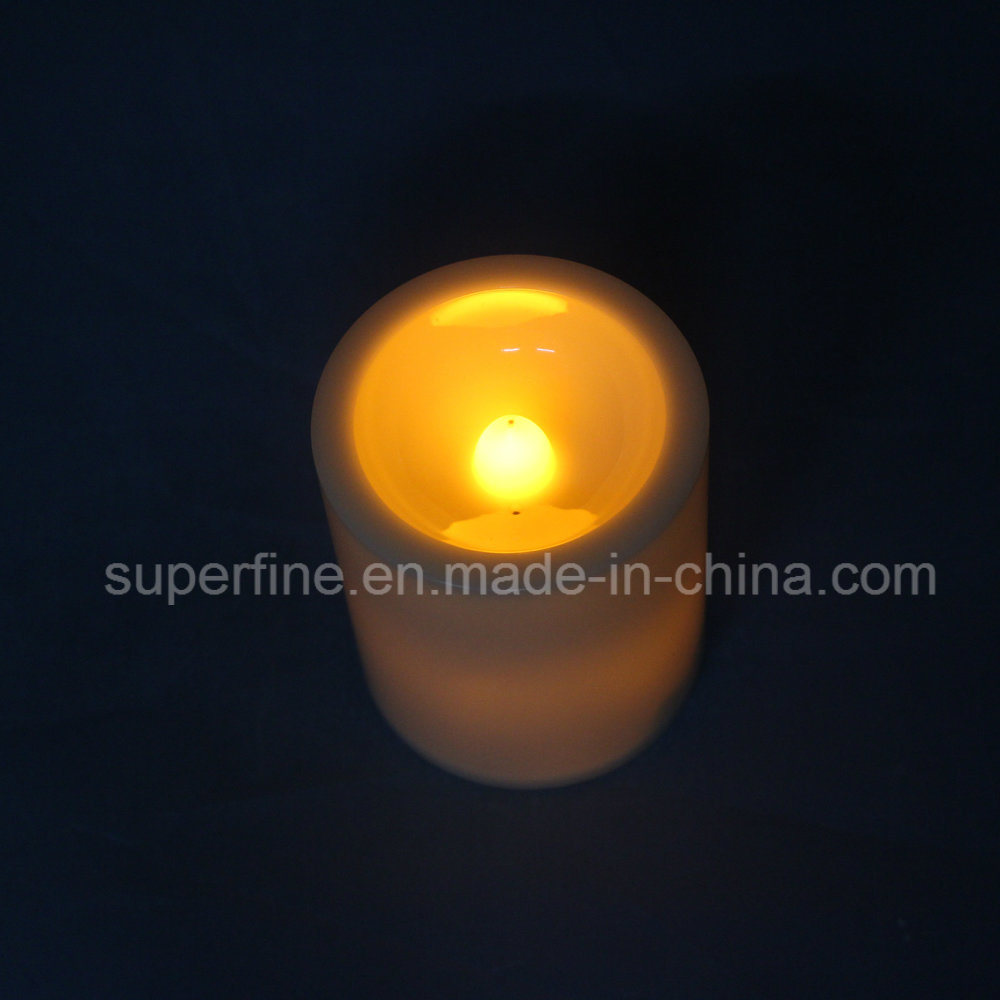 Amber Color Flickering Grave LED Plastic Candles with Battery Operated