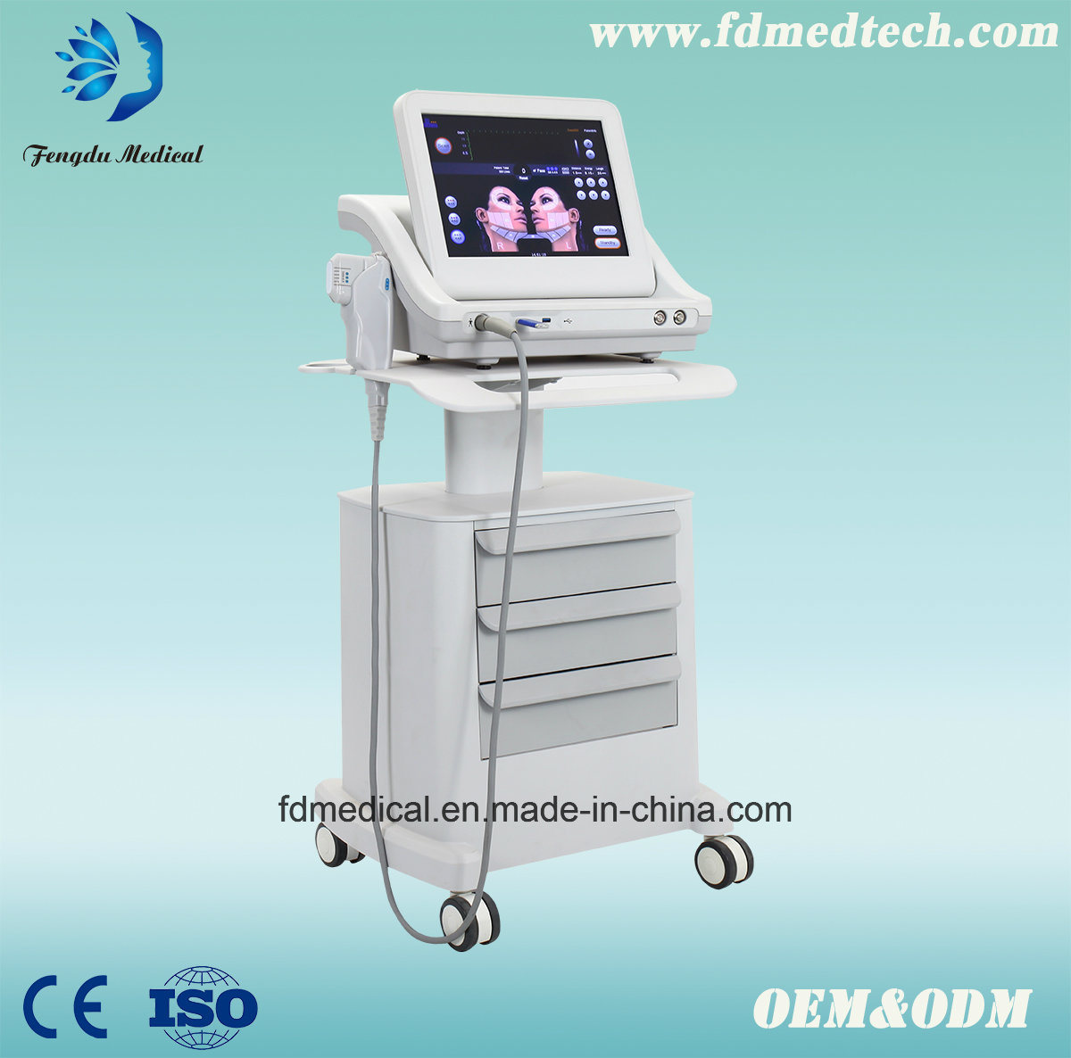 Easy Facial Skin Younth Crow′s Fat Removal Hifu Beauty Machine