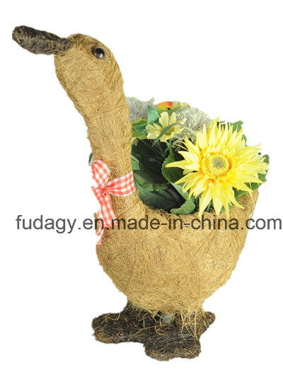 Bird Salim Rattan Flower Basket
