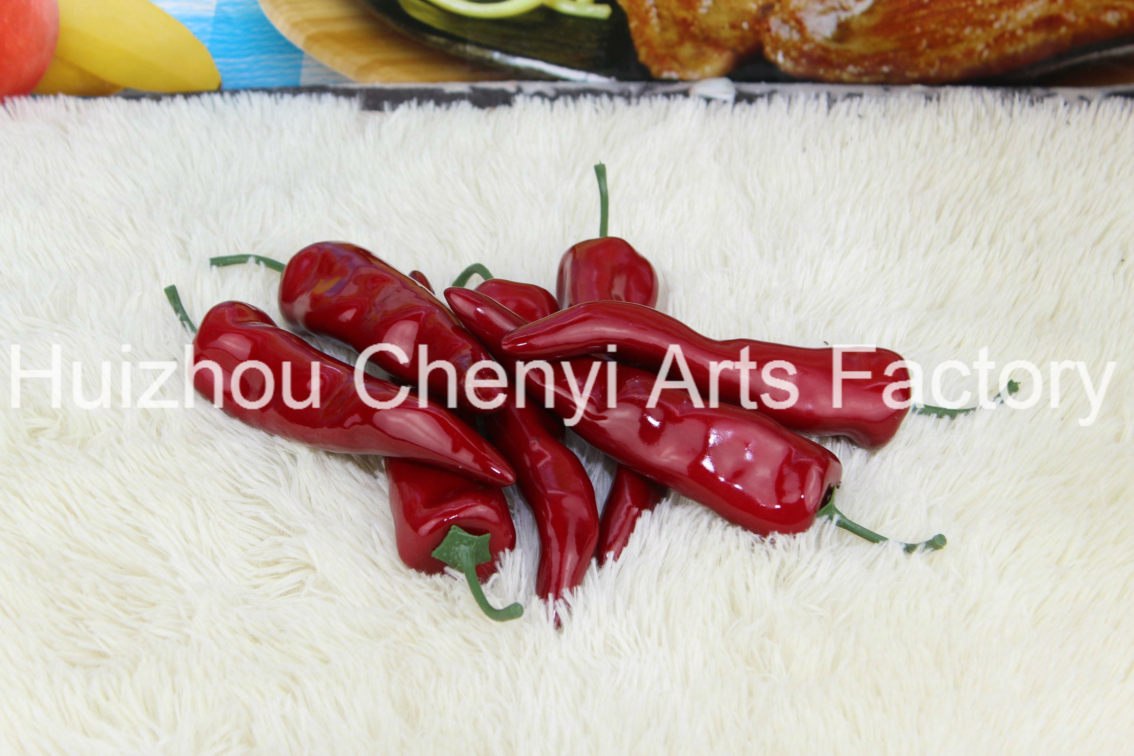 Red Green Chinese Peppers Simulated Fruit