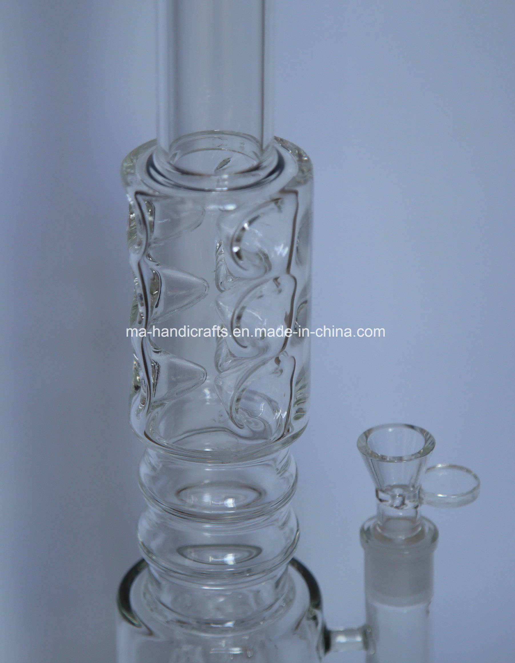 "18"" Ice Pinches Smoking Glass Water Pipes/Smoking Pipes with Matix Percs"
