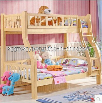 Latest Modern Wooden Bedroom Double Bed Design Furniture for Children
