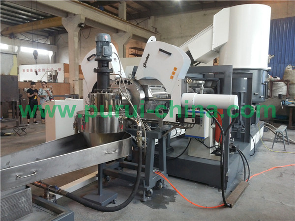 Plastic PE PP Film Recycling Machine with Capacity 400-550kg Per Hour