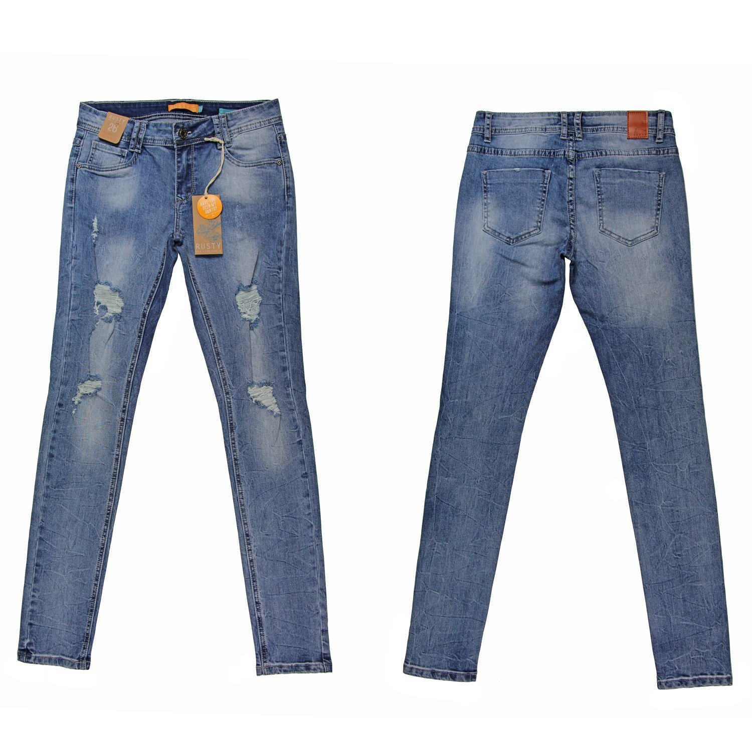 Lady′s Popular Nice Quality Washing Whloesale Denim (MY-014)