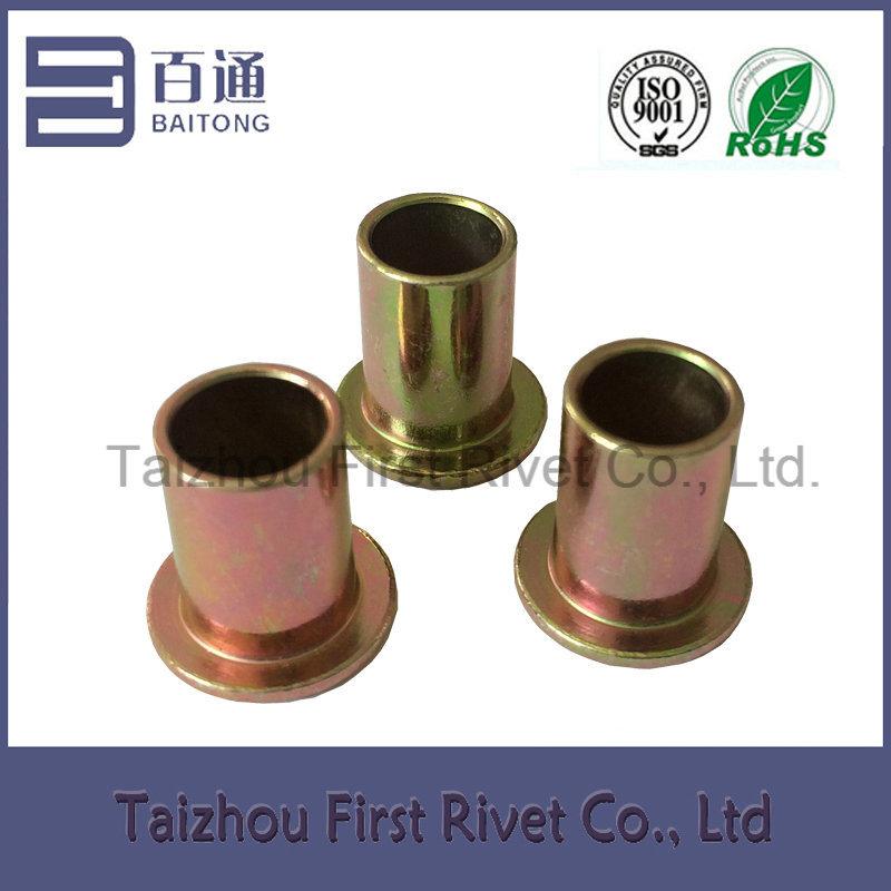 10X13.65mm Zinc Plated Flat Head Full Tubular Steel Rivet