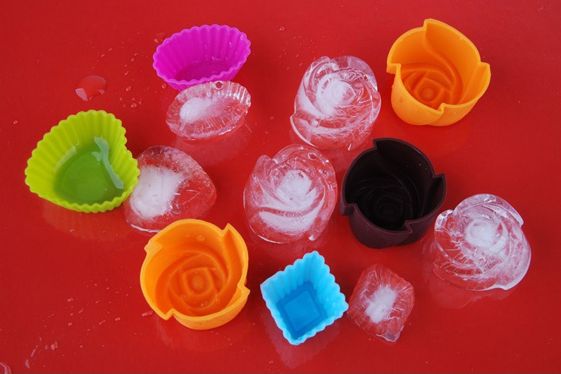 Non-Toxic Food Grade Rose Shape Silicone Baking Cake & Muffin Mould