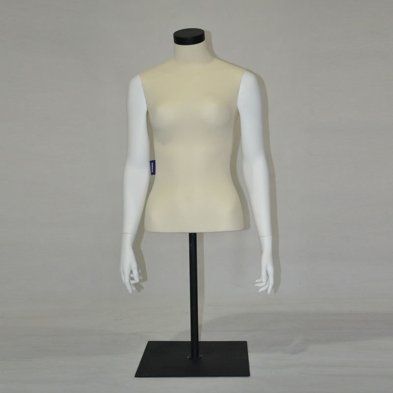 FRP Half Body Female Sport Mannequin with Metal Base